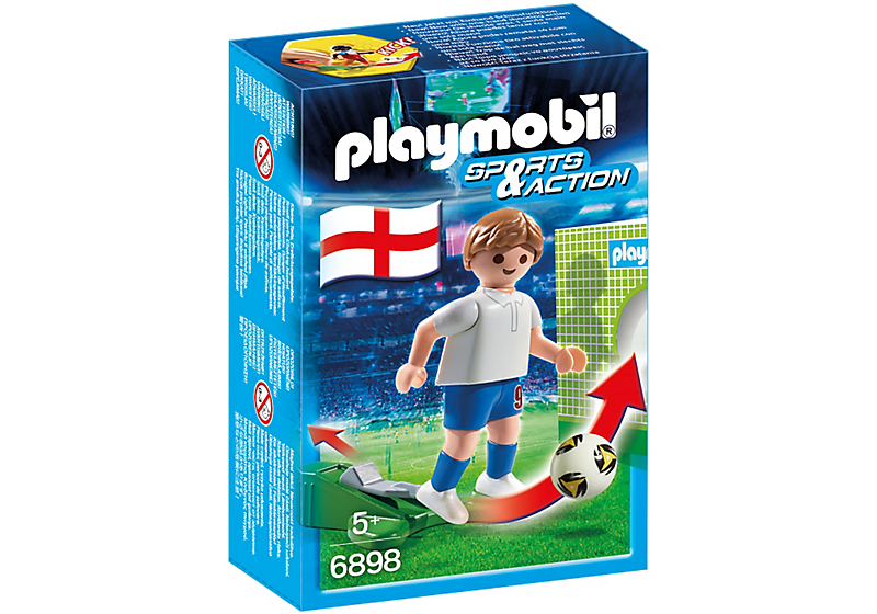 playmobil 6898 football player england box - 6898