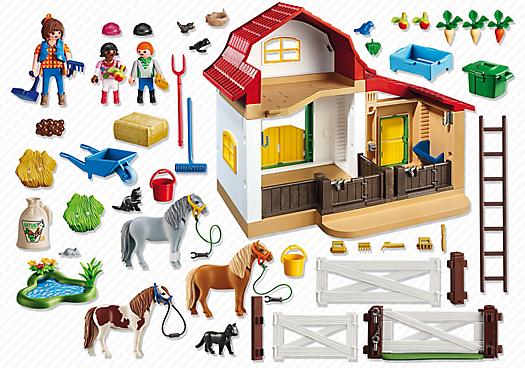 Playmobil 6927 - Pony Farm - Back