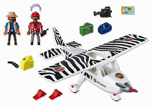 Playmobil 6938 - Safari plane - Back