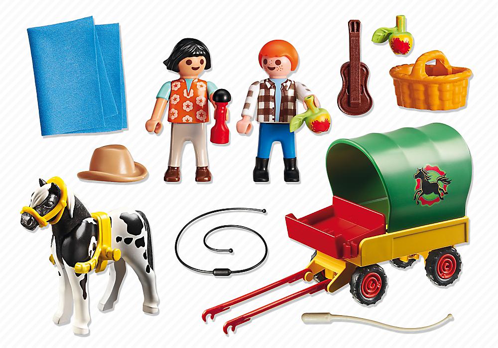 playmobil set 6948 trip with pony cart klickypedia. Black Bedroom Furniture Sets. Home Design Ideas