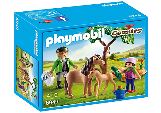 Playmobil 6949 - Country Vet with Pony and Foal - Box