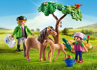 Playmobil - 6949 - Country Vet with Pony and Foal