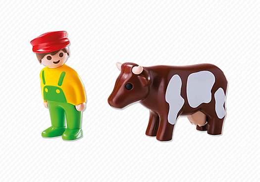 Playmobil 6972 - Farmer with cow - Back