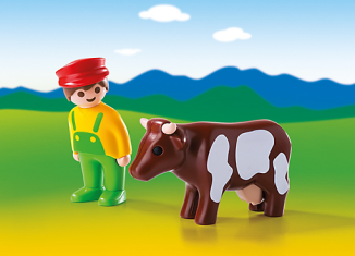 Playmobil - 6972 - Farmer with cow