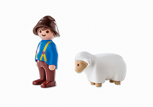 Playmobil 6974 - Shepherdess with sheep - Back