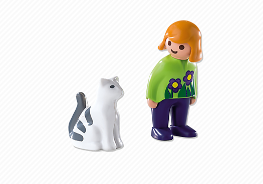 Playmobil 6975 - Woman with Cat - Back