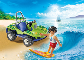 Playmobil - 6982 - Surfer with beach buggy