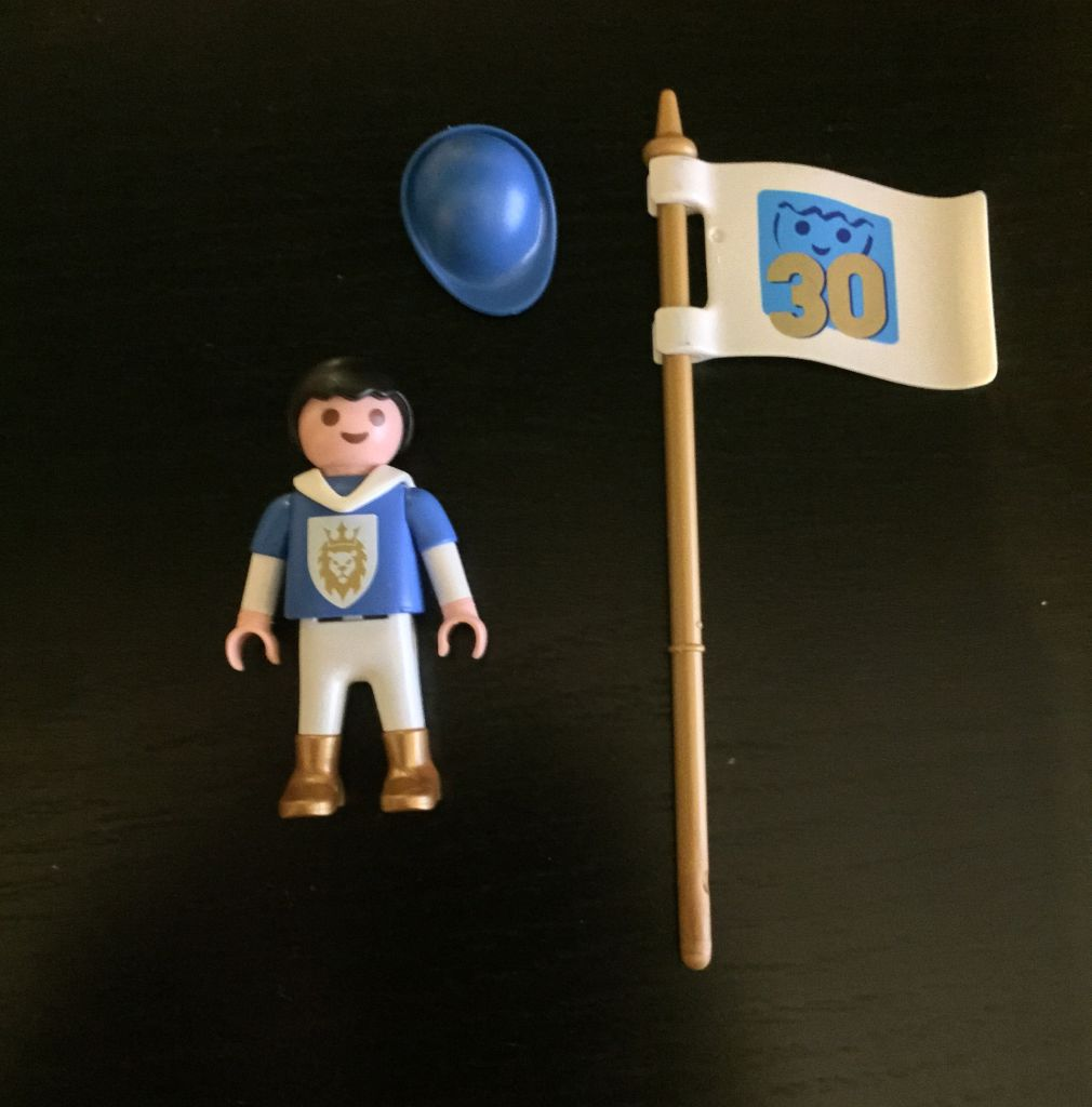 Playmobil 30898282 - 30 anniversary medieval child - free promotional - Back