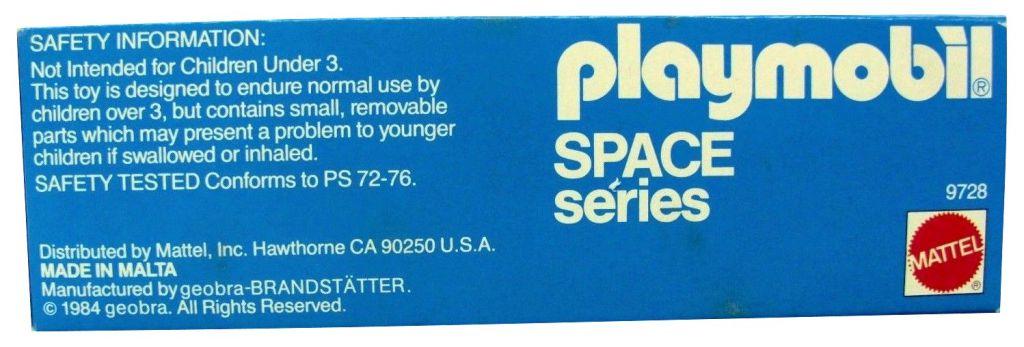 Playmobil 9728-mat - Astronaut + Robot - Back