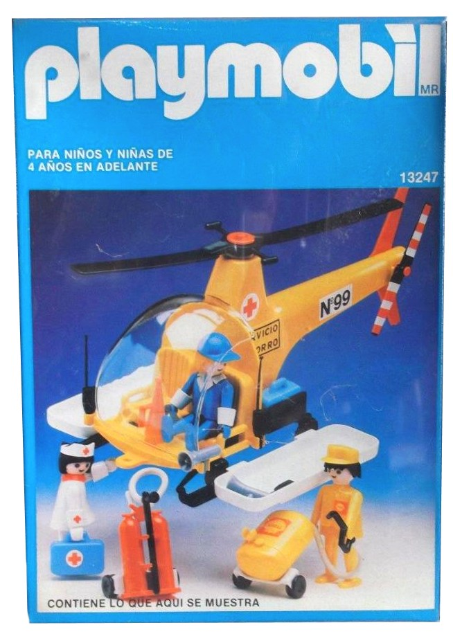Playmobil 13247-aur - Rescue service helicopter - Box