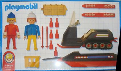 Playmobil 1-3694-ant - snowmobile - Back