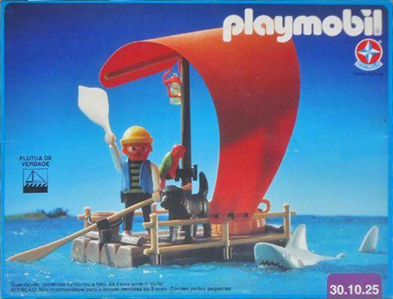 Playmobil 30.10.25-est - pirate raft with shark (red sail) - Box