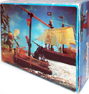 Playmobil 30.10.25-est - pirate raft with shark (red sail) - Back