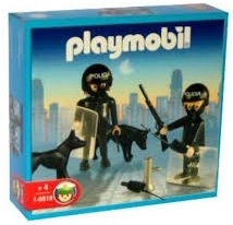 Playmobil 1-9518-ant - 2 policemen with dogs - Box