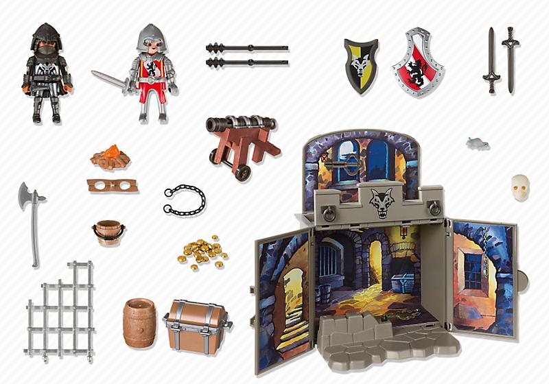 Playmobil 6156 - My Secret Knights' Treasure Room Play Box - Back