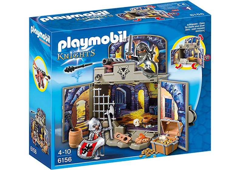 """Playmobil 6156 - Coffre """"Pièce du trésor des chevaliers"""" - Boîte"""
