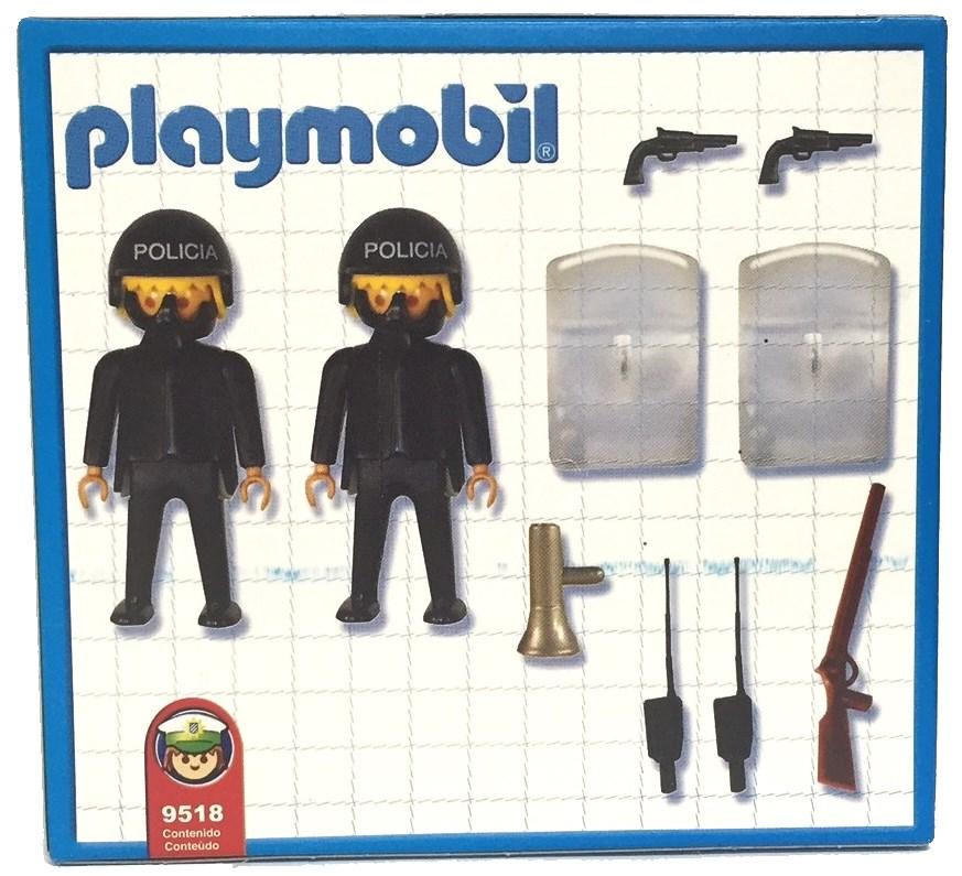 Playmobil 9581-ant - 2 policemen - Back
