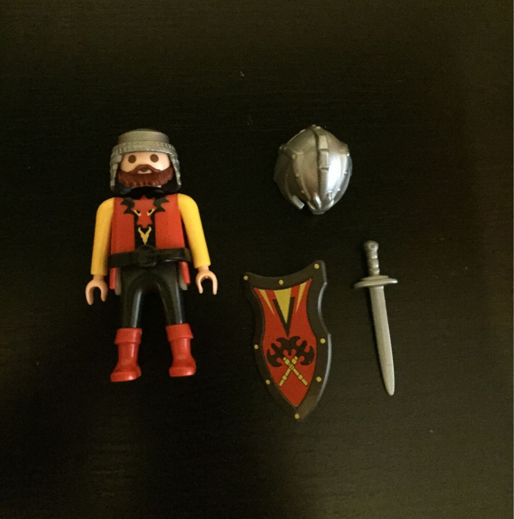 Playmobil 0000 - Red dragon Knight - free promotional - Back