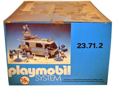 Playmobil 23.71.2-trol - Rede Globo tv van - Box