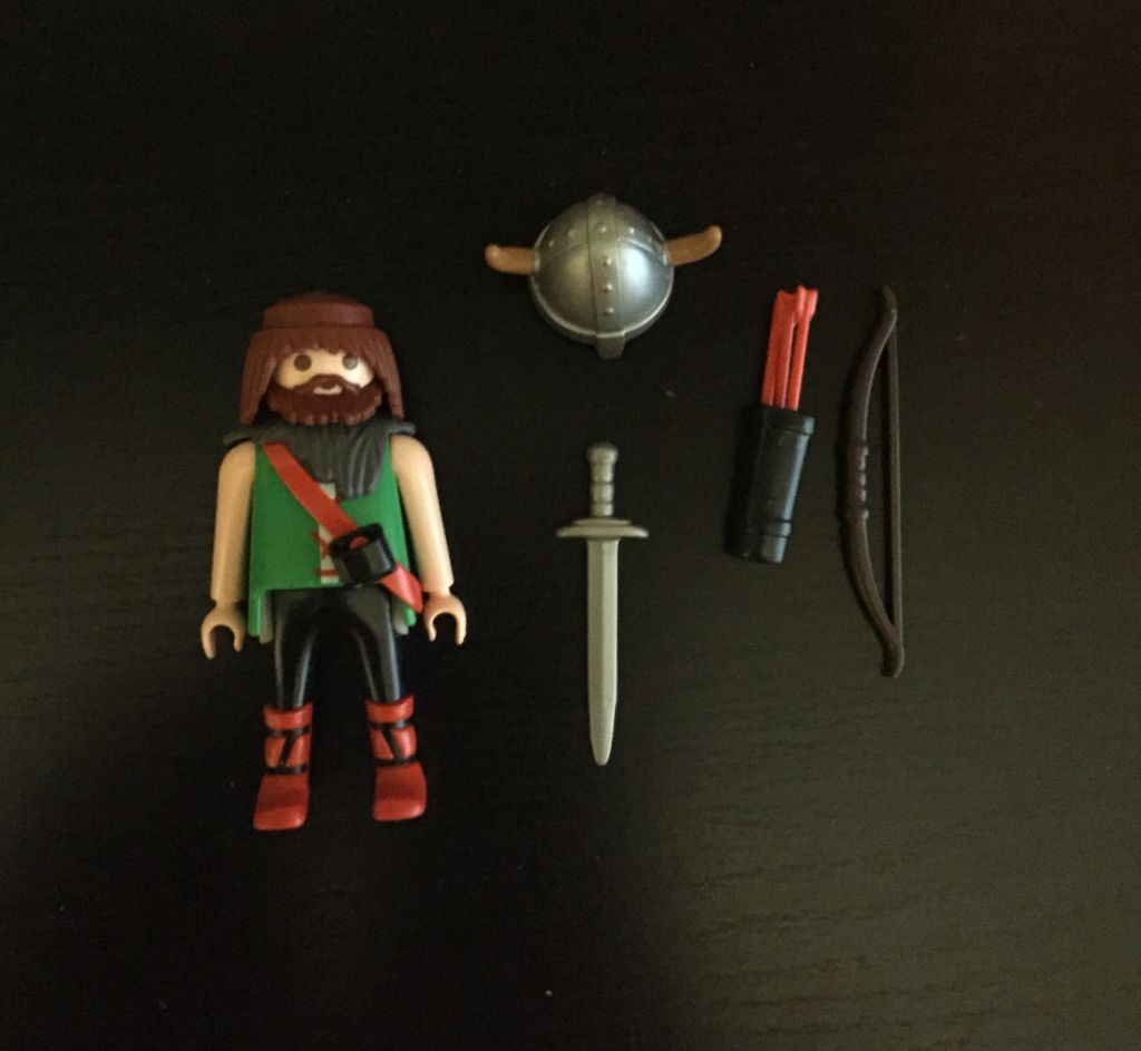 Playmobil 0000 - Viking archer - free promotional - Back