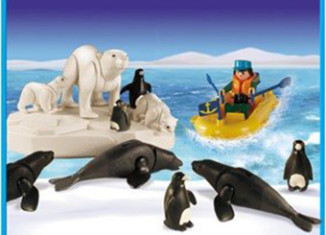 Playmobil - 1-9512-ant - polar eplorer with sea animals