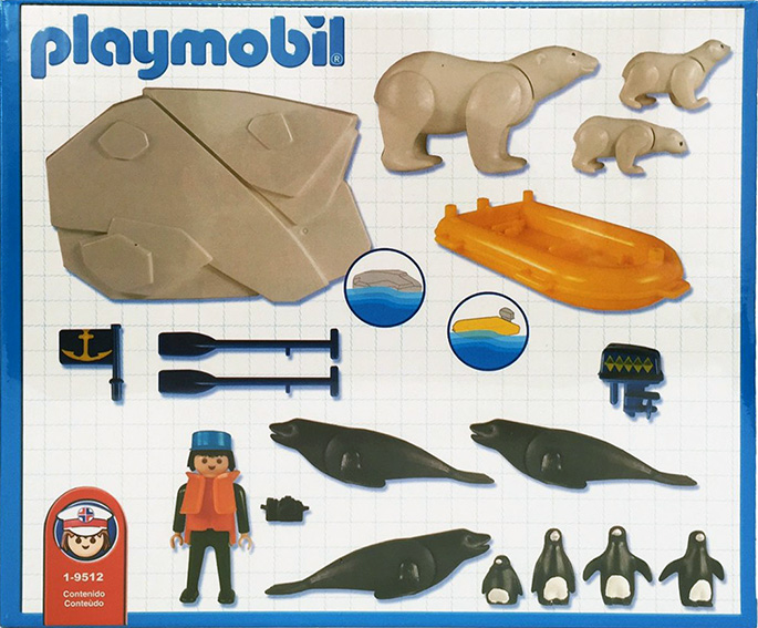 Playmobil 1-9512-ant - polar eplorer with sea animals - Back
