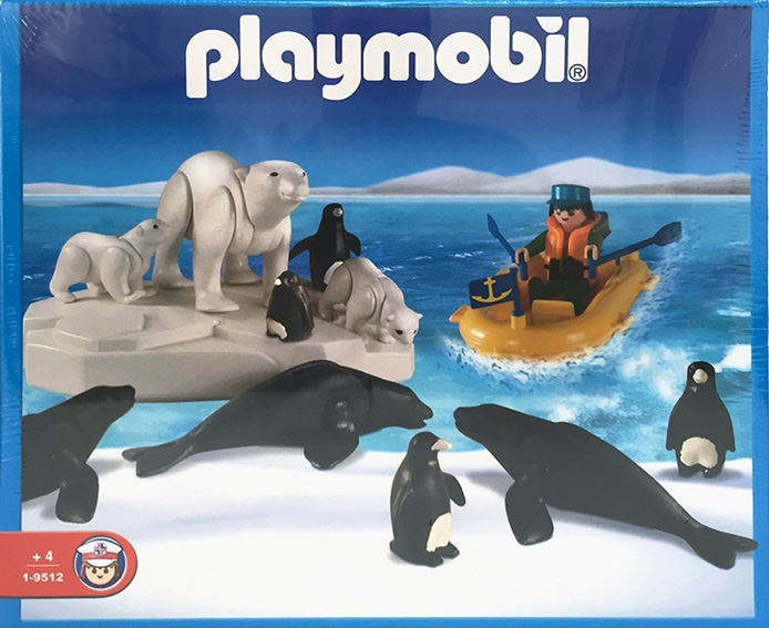 Playmobil 1-9512-ant - polar eplorer with sea animals - Box