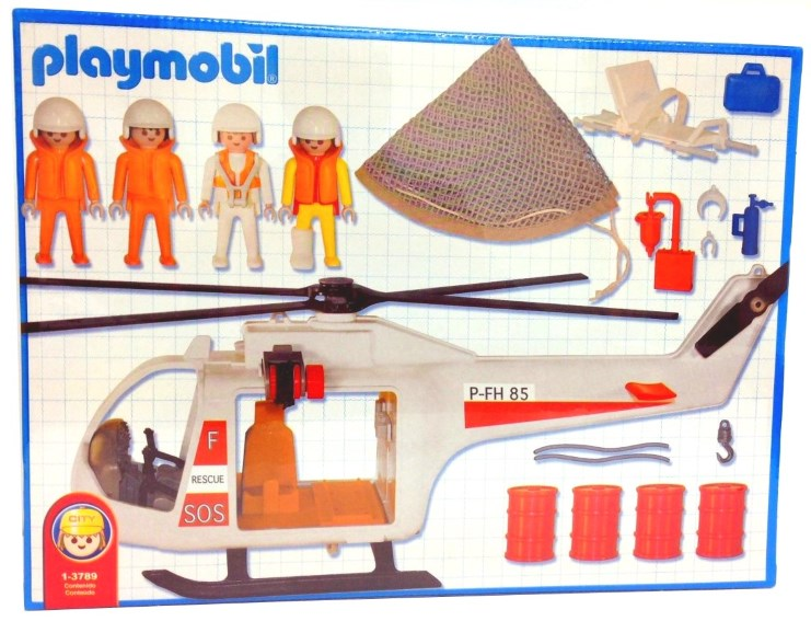 Playmobil 1-3789-ant - Rescue helicopter - Back