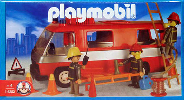 Playmobil 1-3252-ant - firemen and truck - Box