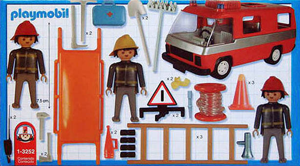 Playmobil 1-3252-ant - firemen and truck - Back