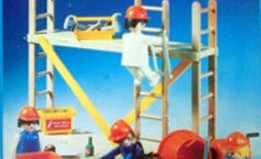 Playmobil - 13492-aur - construction workers with scaffold