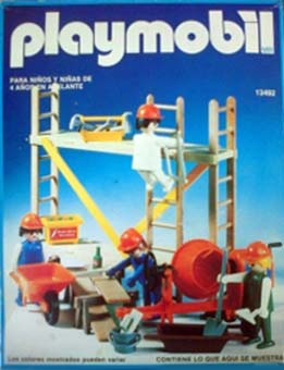 Playmobil 13492-aur - construction workers with scaffold - Box