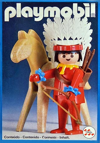 Playmobil 23.35.1 - V1-trol - indian with horse - Caja