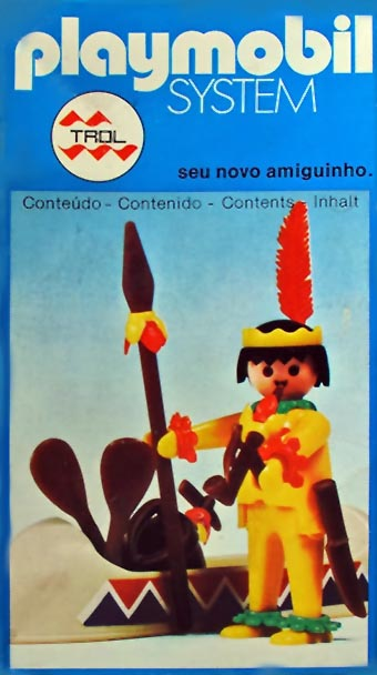 Playmobil 23.35.2 - V1-trol - indian with canoe - Box