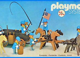 Playmobil - 23.75.1-trol - Union Cavalry with Horse Wagon