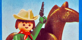 Playmobil - 23.34.2-trol - Green Cowboy with Horse