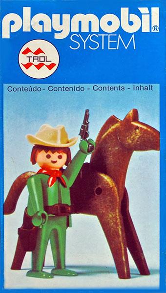 Playmobil 23.34.2-trol - Green Cowboy with Horse - Box