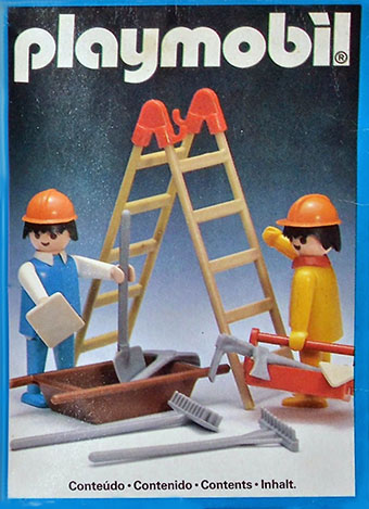 Playmobil 23.81.8-trol - construction workers with scaffold - Box