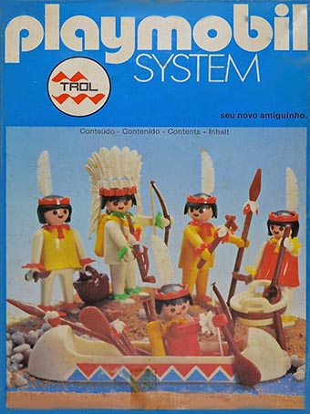 Playmobil 23.25.1-trol - 5 indians with canoe - Box