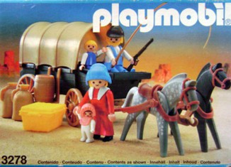 Playmobil - 3278-esp - Settlers & covered wagon