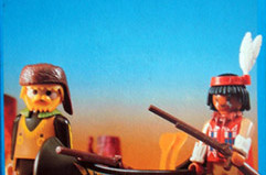 Playmobil - 3397-esp-fra - Indian and Tracker with Canoe