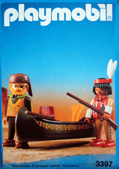 Playmobil 3397-esp-fra - Indian and Tracker with Canoe - Box