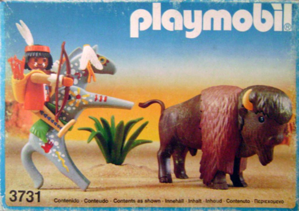 Playmobil 3731-esp - Indian With Buffalo - Box