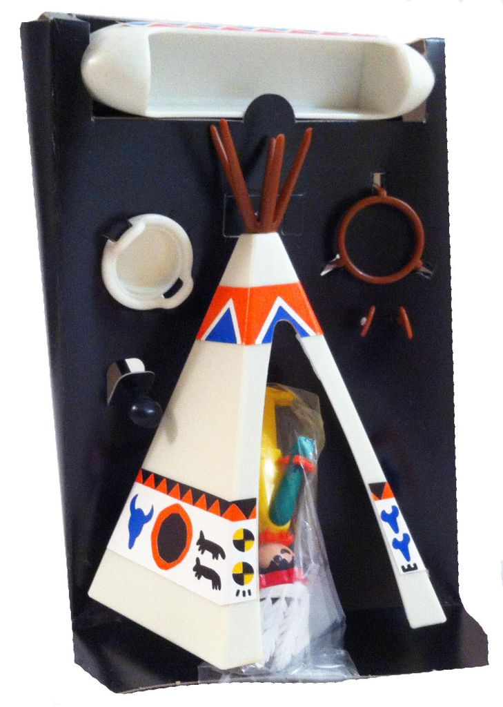 Playmobil 1735-pla - Indian Chief's Wigwam - Back