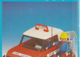 Playmobil - 6L05-lyr - Fireman's car