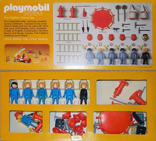 Playmobil 070-sch - Fire Fighters Deluxe Set - Box