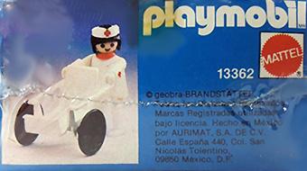 Playmobil 13362-xat - stretcher carrier - Back