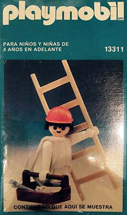 Playmobil 13311-aur - construction worker with ladder - Box