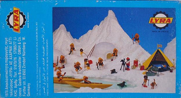 Playmobil 3L70-lyr - eskimo hunter - Back