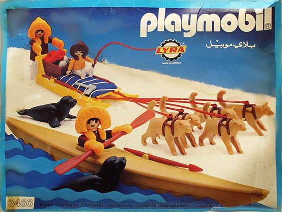 Playmobil 3466-lyr - kayak and dog sled - Box
